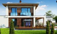 Zz4 - Двухэтажный коттедж с уютной террасой и балконом