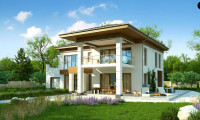 Zz201 - Проект стильного и просторного дома с элементами классической архитектуры.