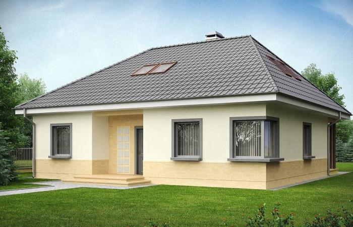 Z84 - Традиционный дом с мансардой, с большим углом наклона крыши.