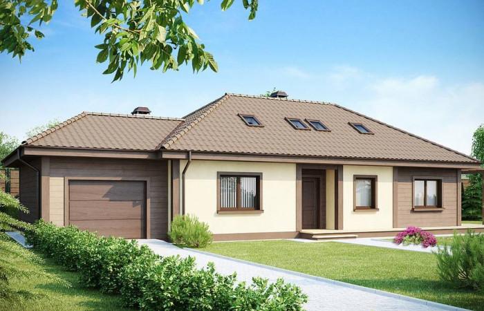Z90 - Просторный дом в традиционном стиле с двумя спальнями на мансарде.