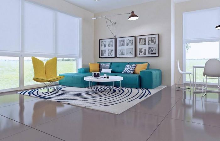Z92 - Проект практичного дома с большим хозяйственным помещением, с кабинетом на первом этаже.